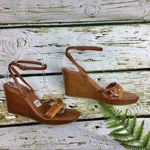 Fioni  Wedges Sandals Camel Color size7